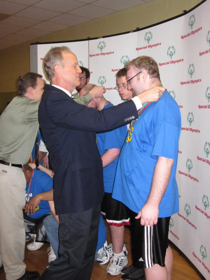 Presenting Medals to Special Olympic Athletes in Hays