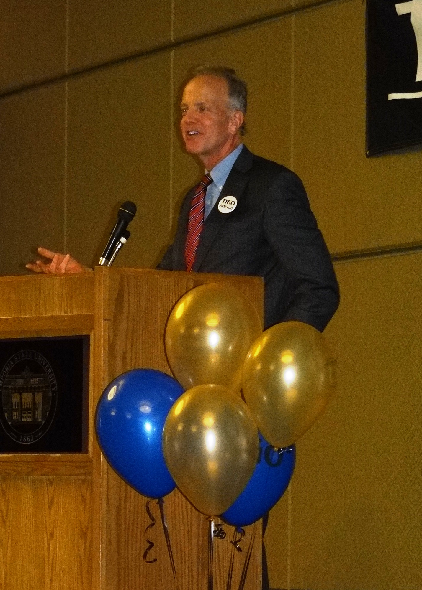 Sen. Moran Speaks at Emporia State University's TRIO Reception