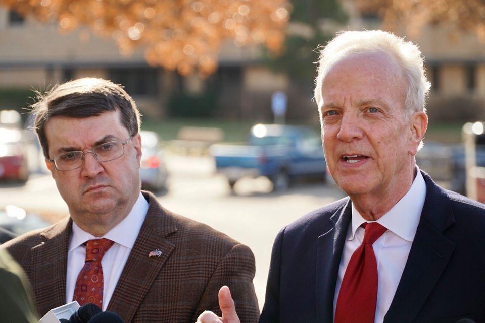 Senator Moran and Secretary Wilkie in Topeka