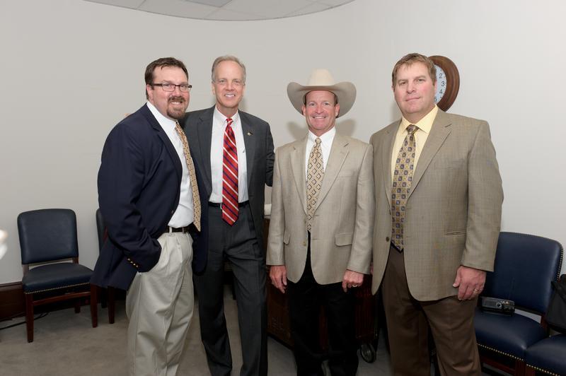 Coffee with Kansans - John Butler, Mark Knight, and Andrew Murphy with Senator Moran