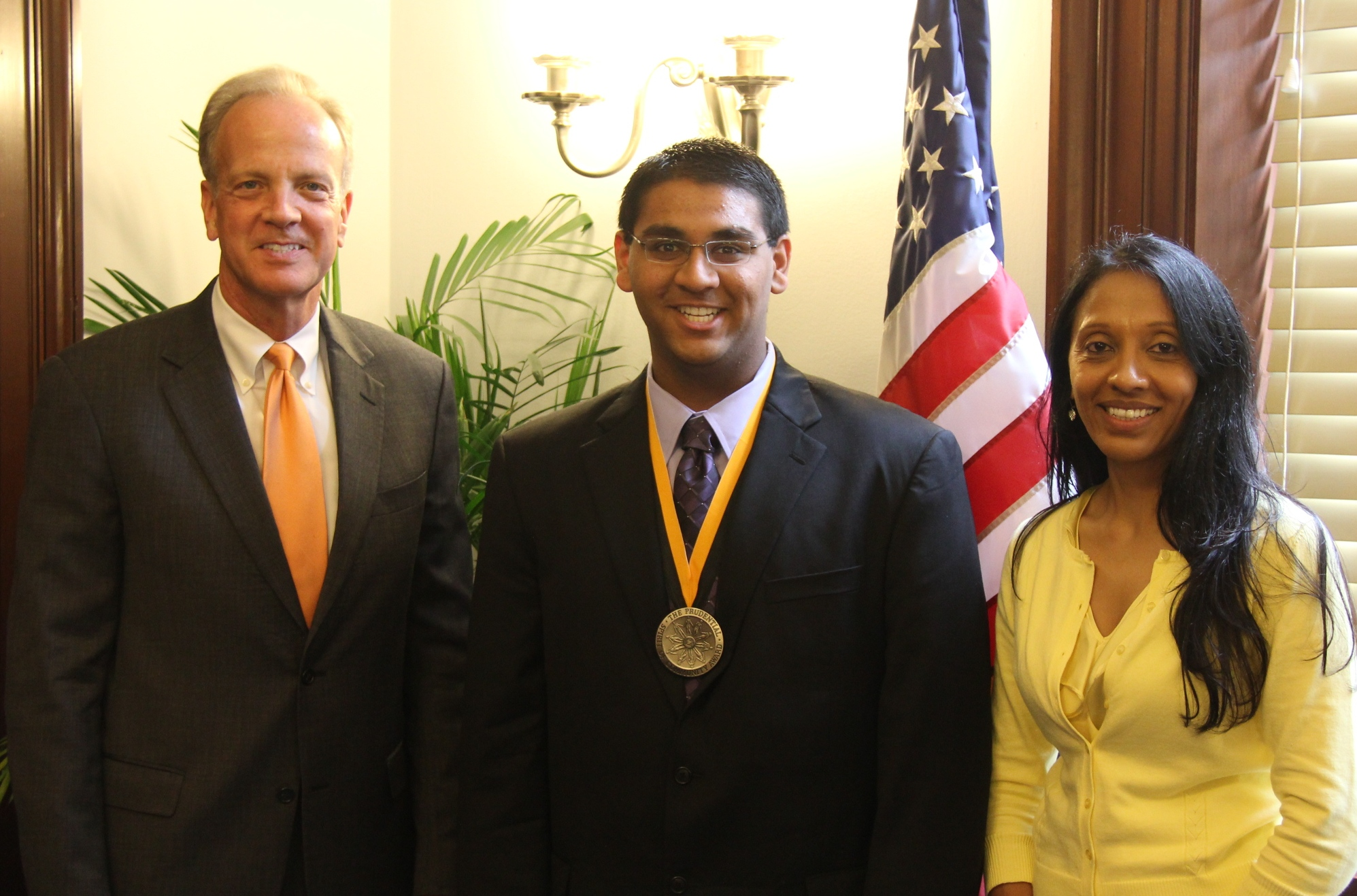 Sen. Moran Congratulates Saajan Bhakta on Receiving 2012 Prudential Spirit of Community Award