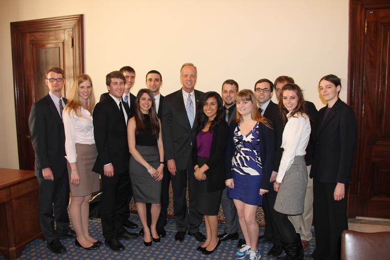 Visiting with Kansas Interns Working in Washington, D.C.
