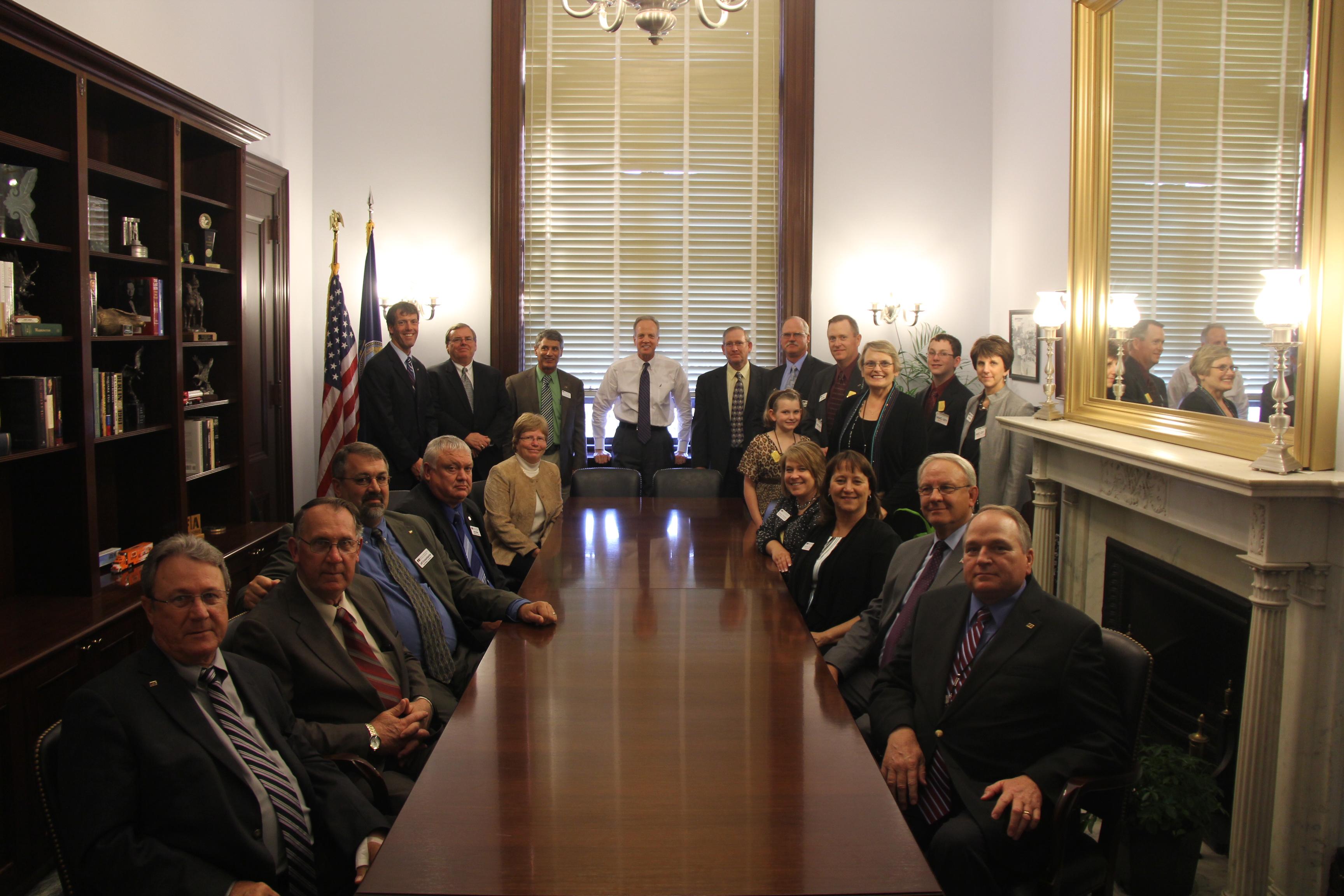 Sen. Moran Welcomes Kansas Farm Bureau Members to Washington