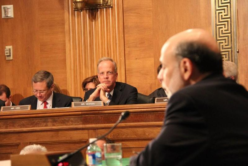 Sen. Moran and Banking Committee Discuss Debt Deadline with Ben Bernanke