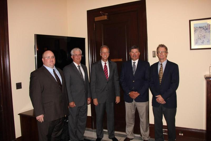 Sen. Moran with Kansas Soybean Association