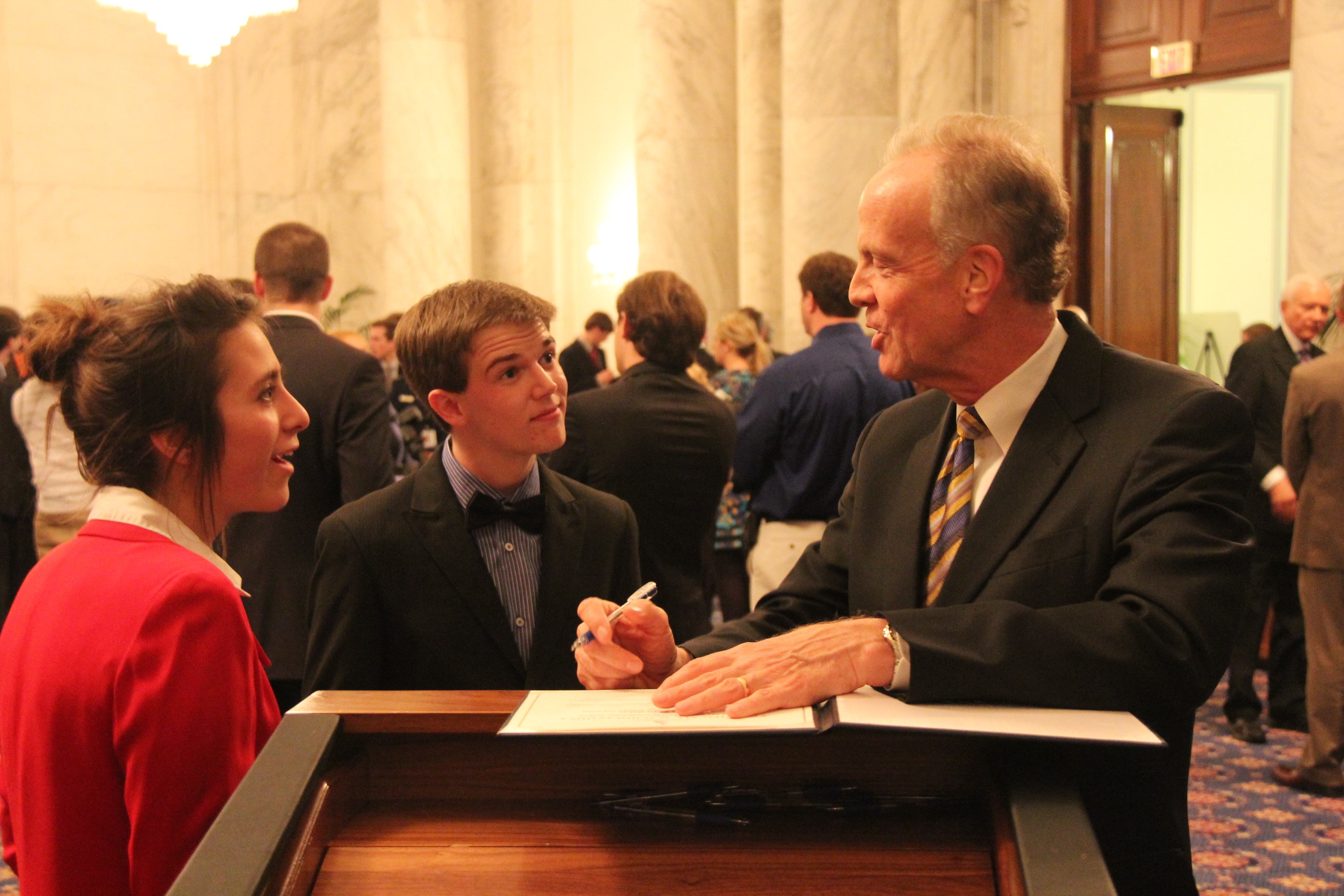 Visiting with Kansas Students in U.S. Senate Youth Program
