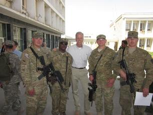 Sen. Moran with Kansans Serving in Afghanistan.