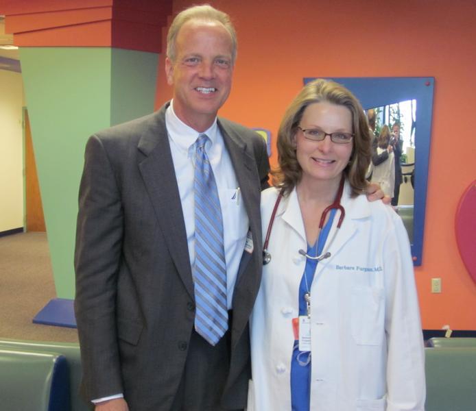Sen. Moran Visits Children's Mercy South