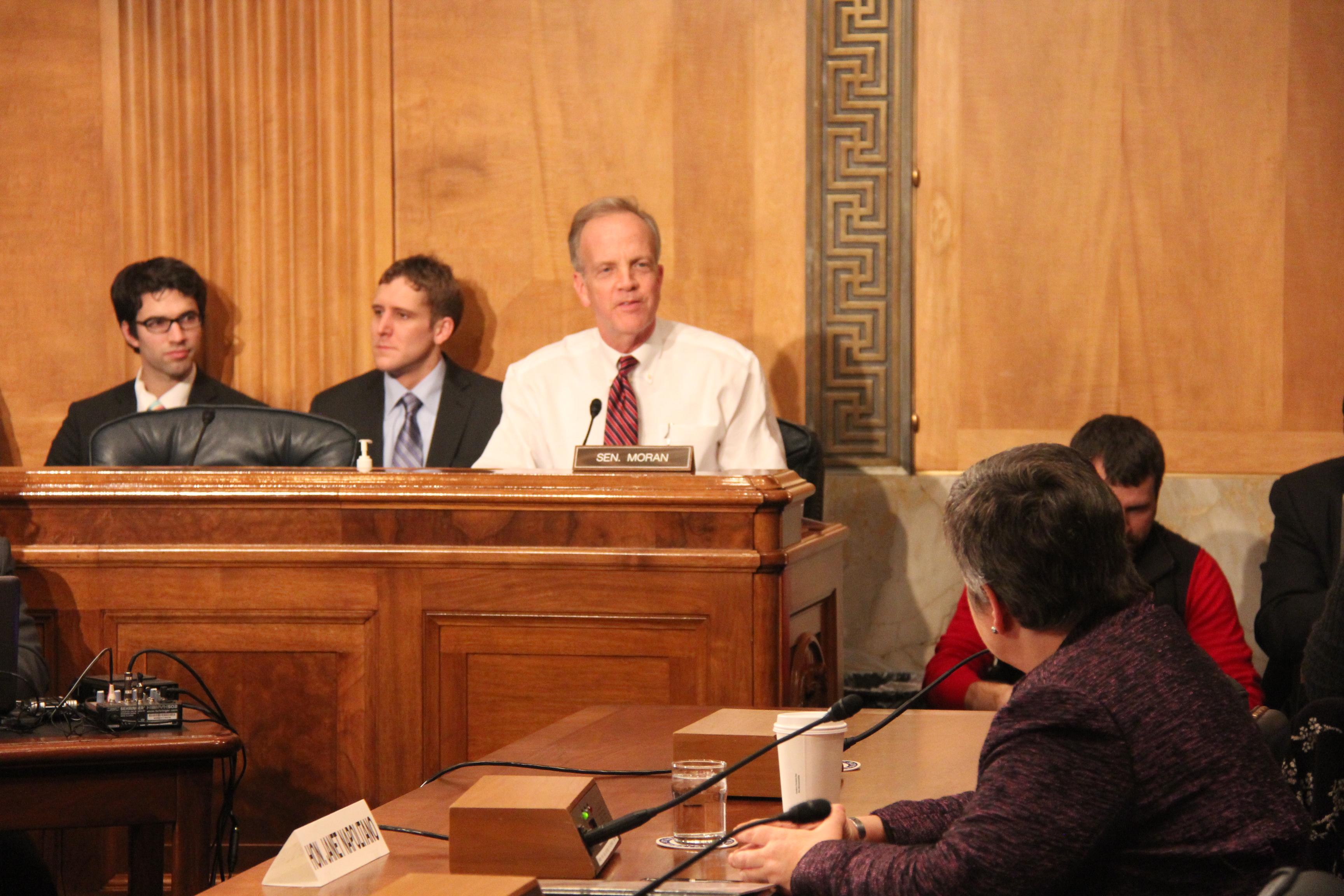 Sen. Moran Questions Sec. Napolitano Over NBAF Funding