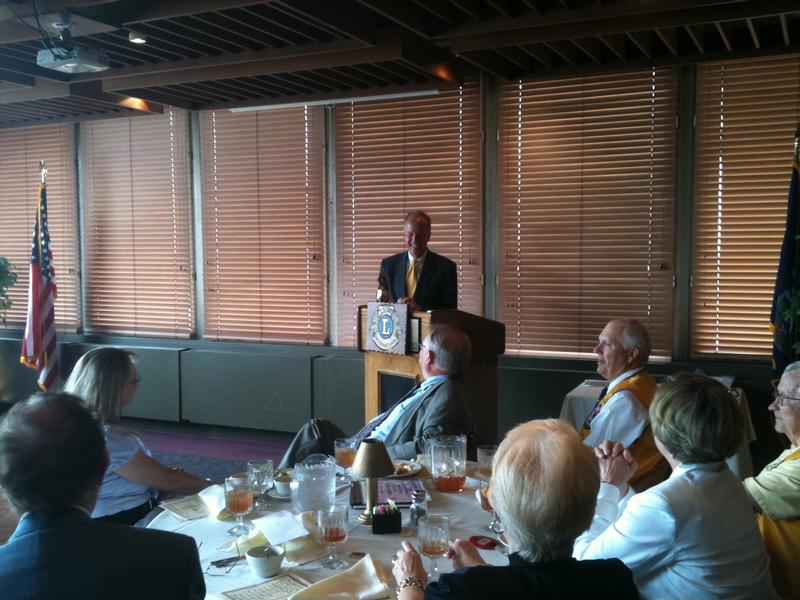 Sen. Moran at Topeka Lions Club