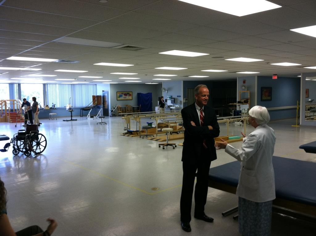 Touring Wesley Rehabilitation Hospital